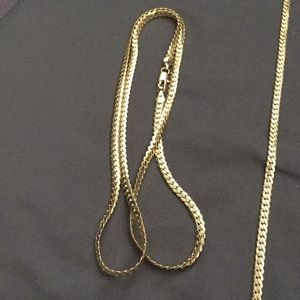 "26"" Gold Filled Flat Cuban Link Necklace"